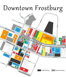 small downtown Frostburg map