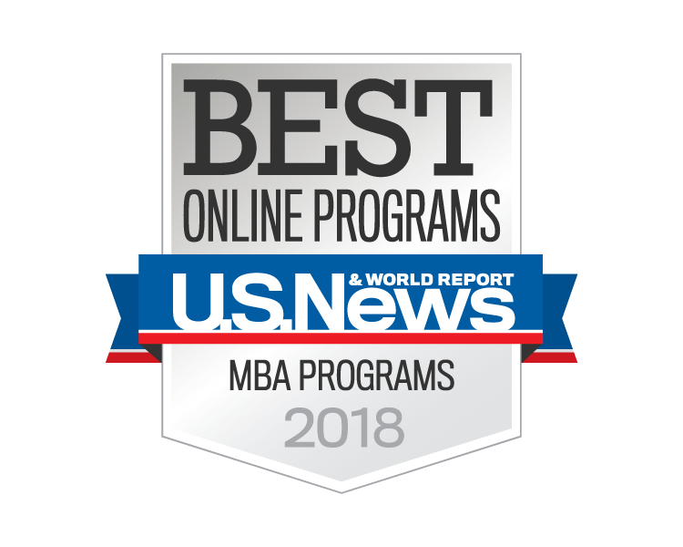US News 2018 Best Online MBA badge