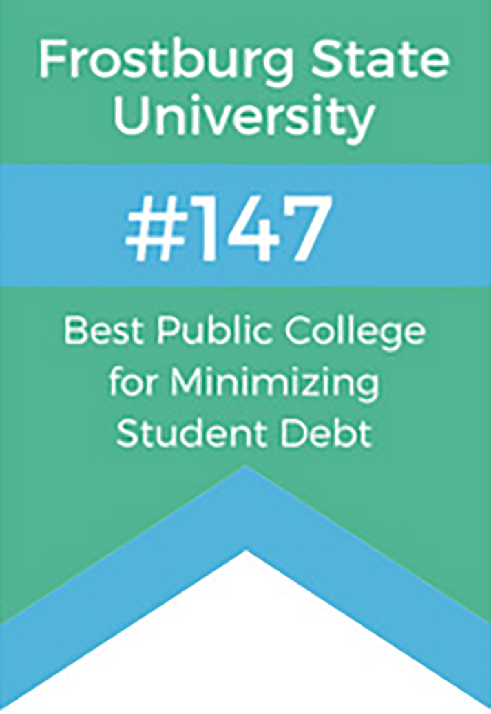 Frostburg Ranks Nationally for Low Student Debt and High