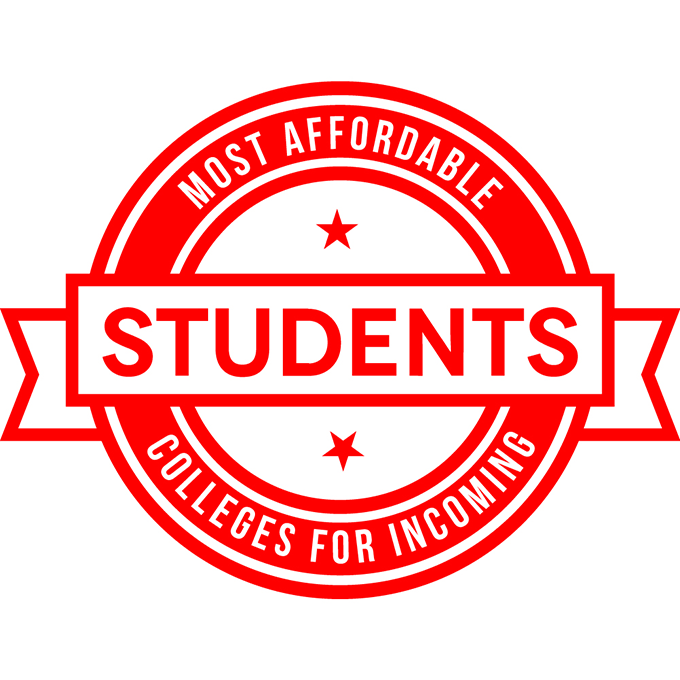 Most Affordable College for Incoming Students Badge