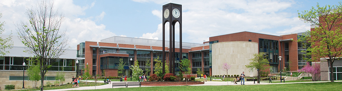 Clock Tower and CCIT Building on campus