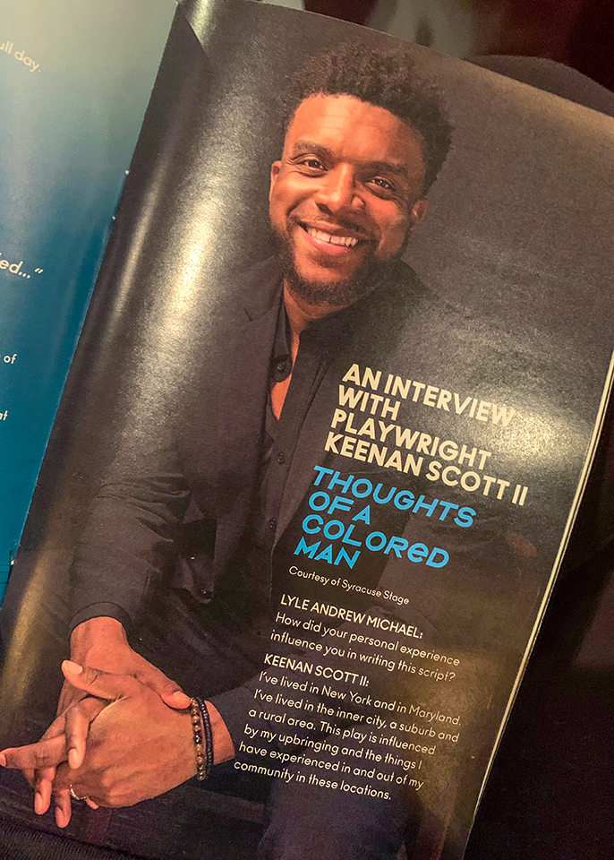 Keenan Scott II on page of a magazine