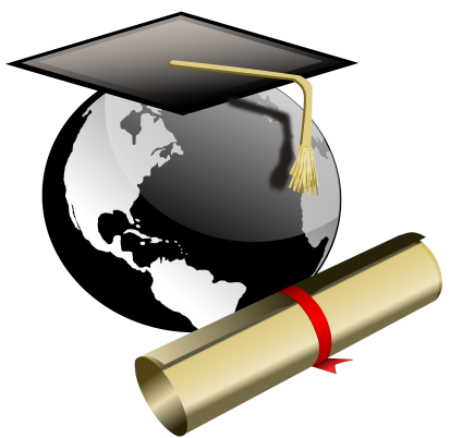 Globe with Grad cap