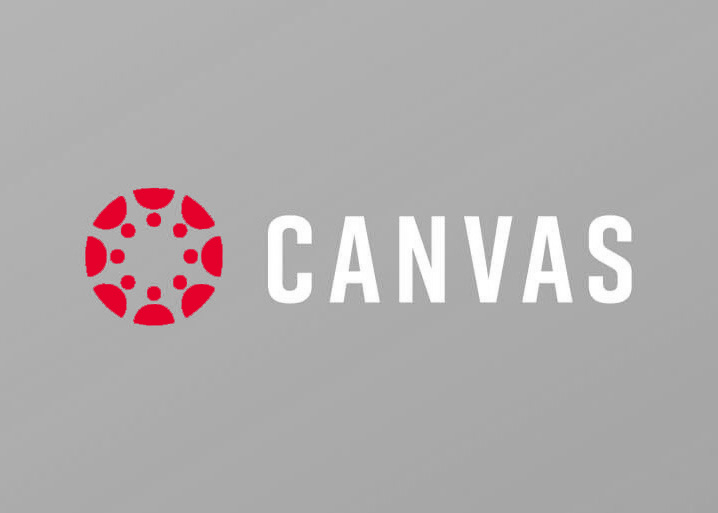 Canvas logo on red