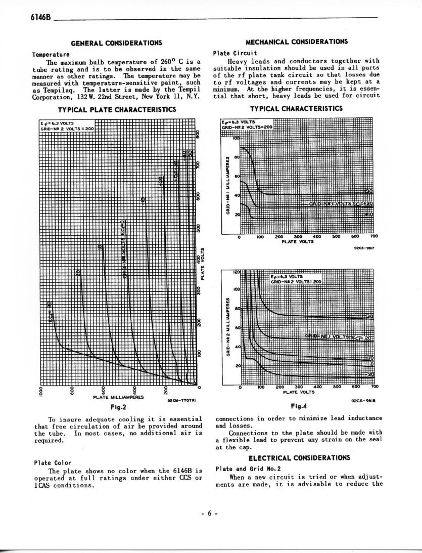 6146b Beam Power Tube And Data Sheets Diagram Vacuum Base Diagrams 6