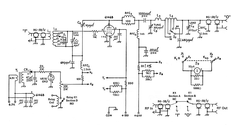 The AA8V 6146B Amplifier - Amplifier Schematic Diagrams and Circuit