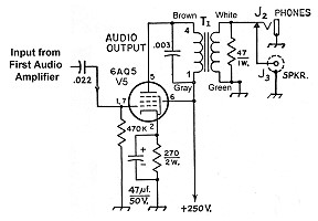The AA8V 6x2 Superheterodyne Receiver - Audio Power
