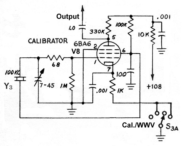 The AA8V 6x2 Superheterodyne Receiver - Crystal Calibrator Schematic ...