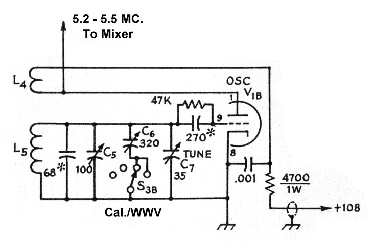 The AA8V 6x2 Superheterodyne Receiver - Local Oscillator ... Oscillator Schematic on