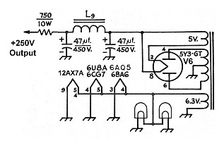 The AA8V 6x2 Superheterodyne Receiver - B+ Power Supply Circuit ...