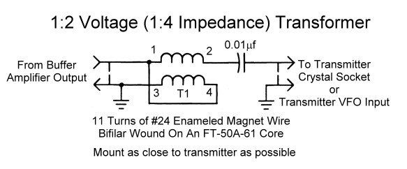 Using the LM-13 Frequency Meter As A VFO - 2 Transistor Buffer ... on hi fi amplifier, solid state hf amplifier, transistor amplifier, x force base amplifier, 2 meter ham radio amplifier, 4cx250b grounded grid amplifier, homemade amplifier, cobra cb amplifier, fatboy 700 base amplifier,
