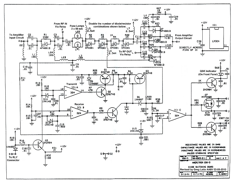Electronic T/R Switching and the Ameritron QSK-5 - Schematic Diagram ...