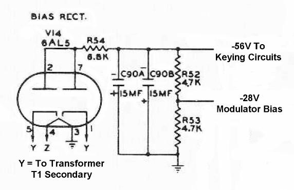 the johnson viking ranger  keying power supply