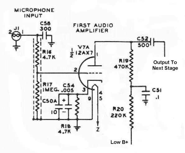 The Johnson Viking Ranger - First Audio Amplifier Circuit Schematic on block diagram, exploded view diagram, wiring diagram, yed graph diagram, concept diagram, schema diagram, cutaway diagram, problem solving diagram, circuit diagram, flow diagram, carm diagram, critical mass diagram, line diagram, electric current diagram, isometric diagram, system diagram, sequence diagram, network diagram, process diagram,