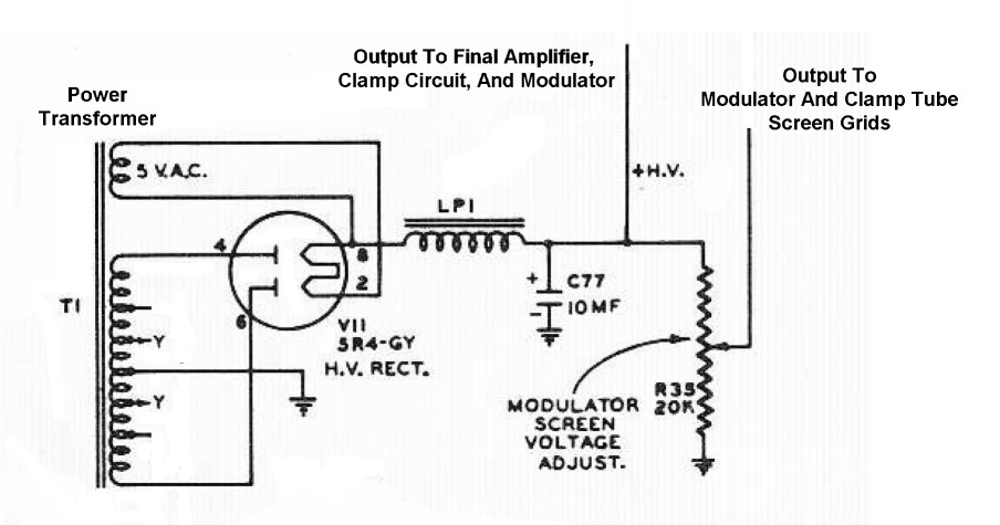 The Johnson Viking Ranger High B Power Supply Schematic Diagram
