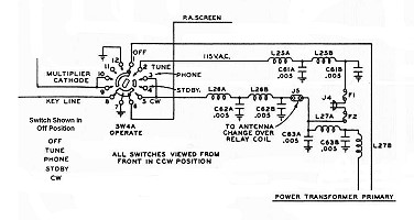 Ac Adapter Circuit Diagram | The Johnson Viking Ranger Operate Switch Ac Power Control