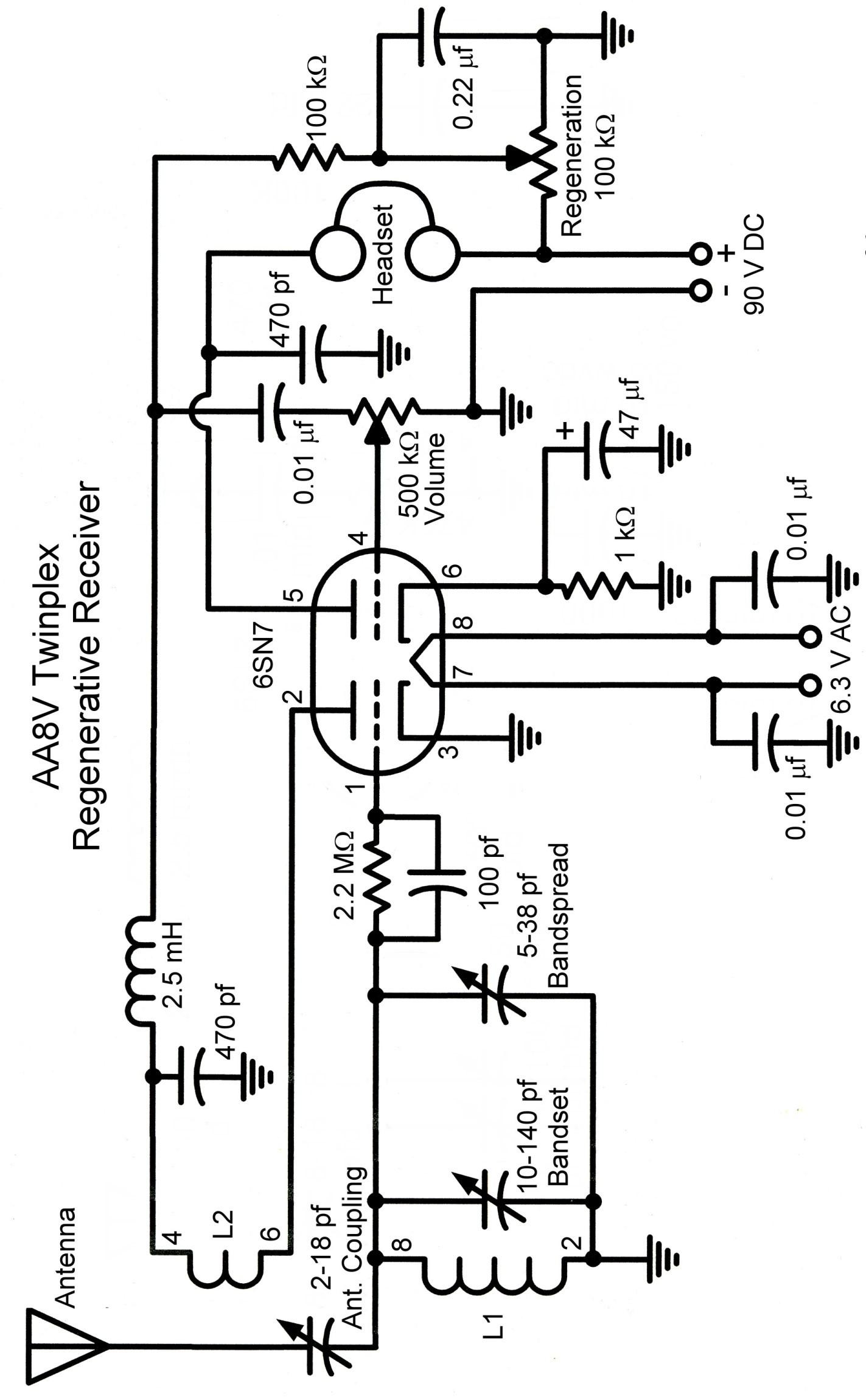 The AA8V Twinplex Regenerative Receiver - Schematic Diagrams