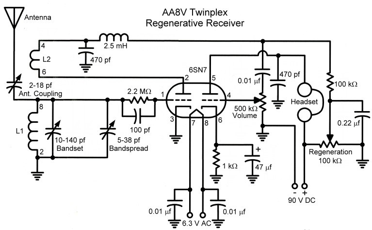 The Aa8v Twinplex Regenerative Receiver Schematic