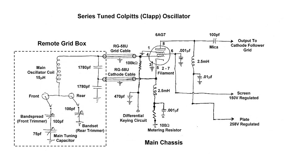 The W8EXI Wingfoot VFO Exciter - Oscillator Schematic