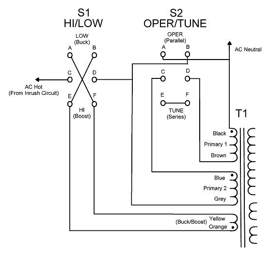 wingfoot 813 transformer t1 primary circuit description and